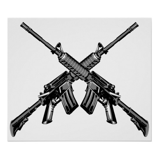 Crossed Rifles Poster