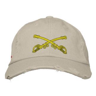 Crossed Sabers Custom Distressed Baseball Cap