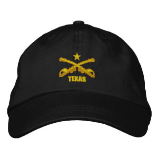 Crossed Sabers -Texas Embroidered Baseball Caps