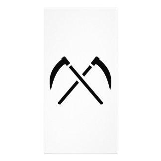 Crossed scythe photo card