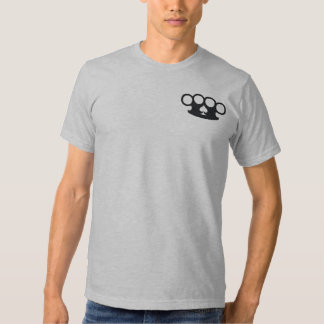 Crossed Six Shooter Guns and Brass Knuckles Tshirt
