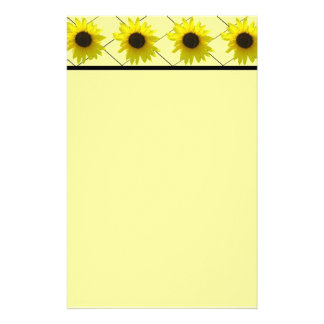 Crossed Sunflower Stationery