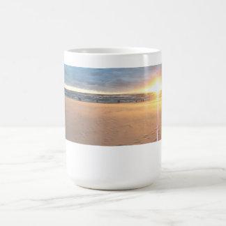 Crossed Sunset Basic White Mug