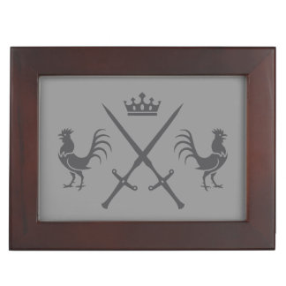 Crossed Swords and Roosters Memory Box