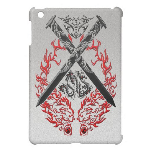 Crossed Swords Dragon Cover For The iPad Mini