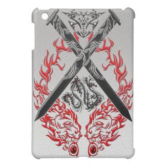 Crossed Swords Dragon iPad Mini Cover