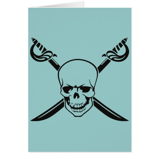 Crossed Swords with Skull Card
