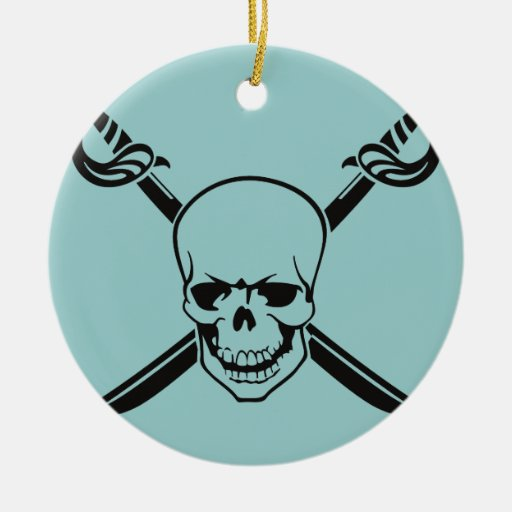 Crossed Swords with Skull Christmas Tree Ornaments
