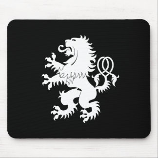 Crossed Tail Rampant Lion Heraldry Mousepad