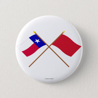 Crossed Texas and Alabama Red Rovers Flags 6 Cm Round Badge