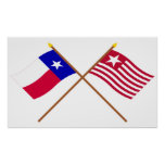 Crossed Texas and Long's Expedition Flags