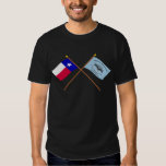 Crossed Texas and New Orleans Greys Flags T Shirts