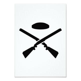 Crossed trap shooting shotguns card