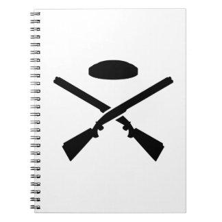Crossed trap shooting shotguns notebooks