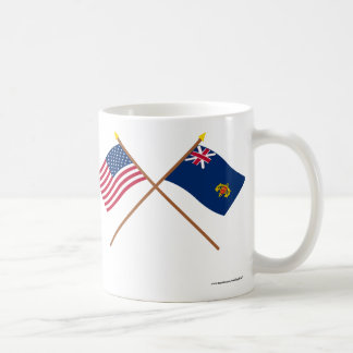 Crossed US and New Hampshire 2nd Regiment Basic White Mug