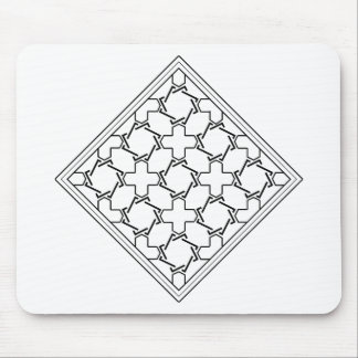 crosses and crowns tessellation 2 mouse pad