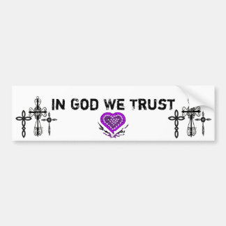 Crosses Bumper Sticker
