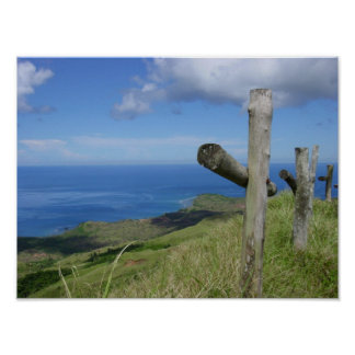 Crosses overlook the South Pacific Island of Guam Poster