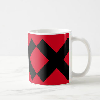 Crosses ..with your own background color. basic white mug