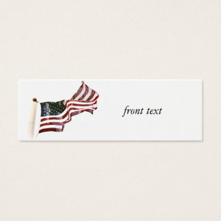 Crosses Within Old Glory - Memorial Day Mini Business Card