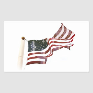 Crosses Within Old Glory - Memorial Day Rectangular Sticker