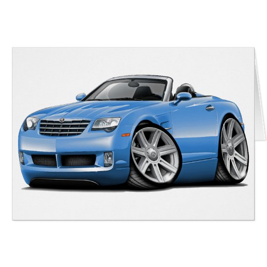 Crossfire Lt Blue Convertible Card