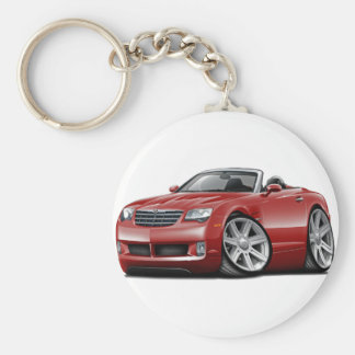 Crossfire Maroon Convertible Basic Round Button Key Ring