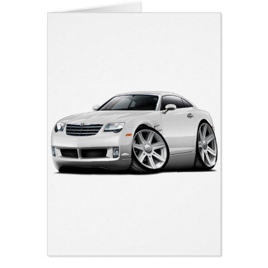 Crossfire White Car Card