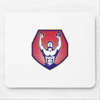 Crossfit Training Athlete Rings Retro Mouse Pads