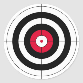 Crosshairs BullsEYE Target Round Sticker