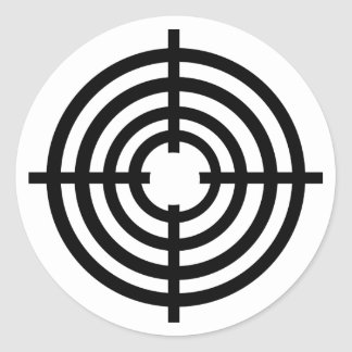 Crosshairs Classic Round Sticker