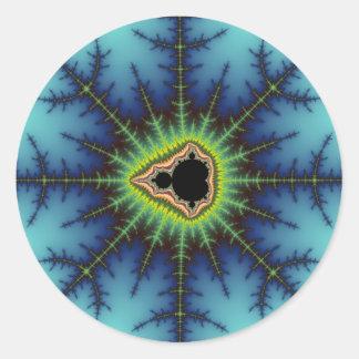 Crosshairs - Fractal Classic Round Sticker