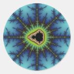 Crosshairs - Fractal Round Sticker