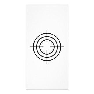 Crosshairs gun photo card template
