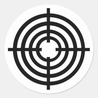 Crosshairs Round Sticker