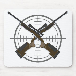 Crosshairs sniper rifle hunting mousepad