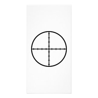 Crosshairs weapon customized photo card