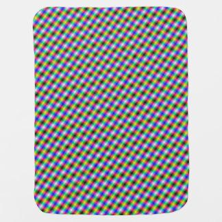 Crosshatch in Neon Baby Blanket