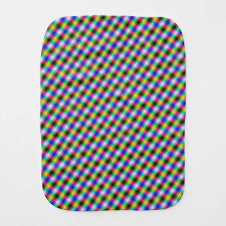 Crosshatch in Neon Baby Burp Cloths