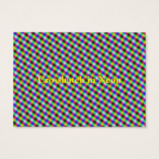 Crosshatch in Neon Business Card