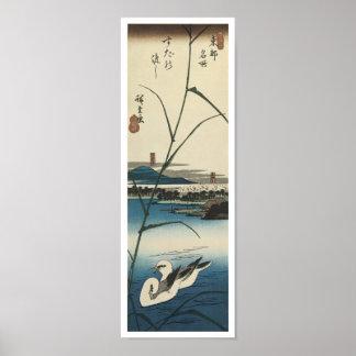 Crossing at Suda, Hiroshige, 1830 Poster
