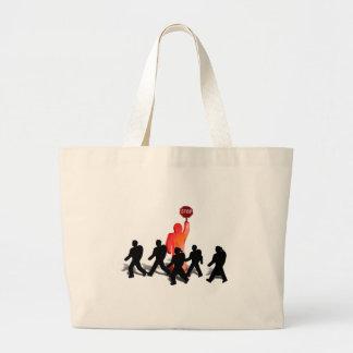 Crossing Guard & Kids Jumbo Tote Bag