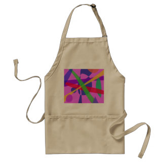 Crossing Lines Primitive Abstract Art Standard Apron