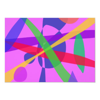 Crossing Lines Primitive Abstract Art Personalized Announcements