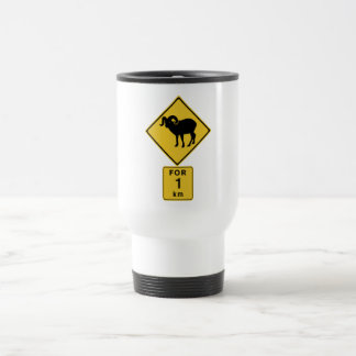 Crossing Mountain Goats (2), Traffic Sign, Canada Stainless Steel Travel Mug