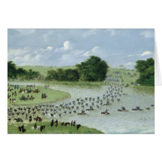 Crossing of the San Joaquin River, Paraguay, 1865 Card