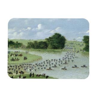 Crossing of the San Joaquin River, Paraguay, 1865 Rectangular Photo Magnet