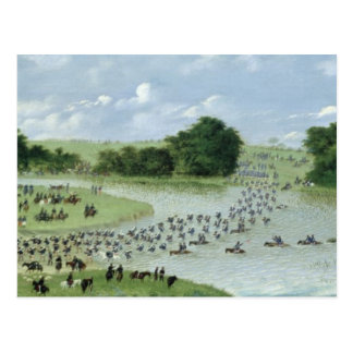 Crossing of the San Joaquin River, Paraguay, 1865 Postcard