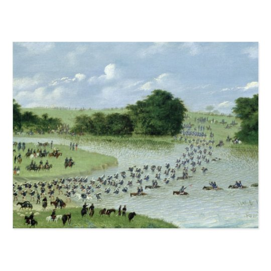 Crossing of the San Joaquin River, Paraguay, 1865