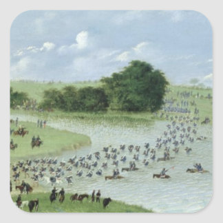Crossing of the San Joaquin River, Paraguay, 1865 Square Sticker